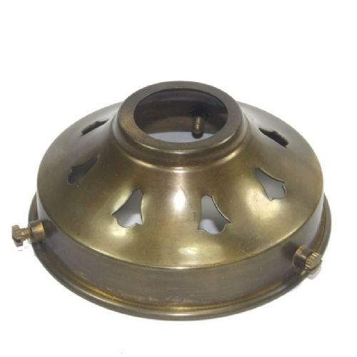 3 1/4'' Solid Old English Antique Brass Lampshade Fitter Gallery